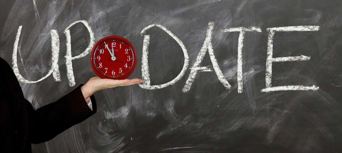 Wie lange dauert bei Sky die EPG Aktualisierung? - Eine Nahaufnahme von einer Tafel - Update