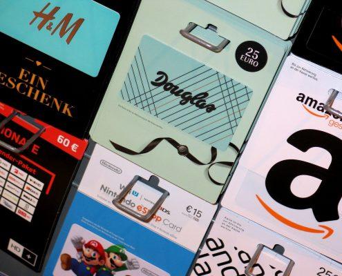 Geschenkkarten von Amazon