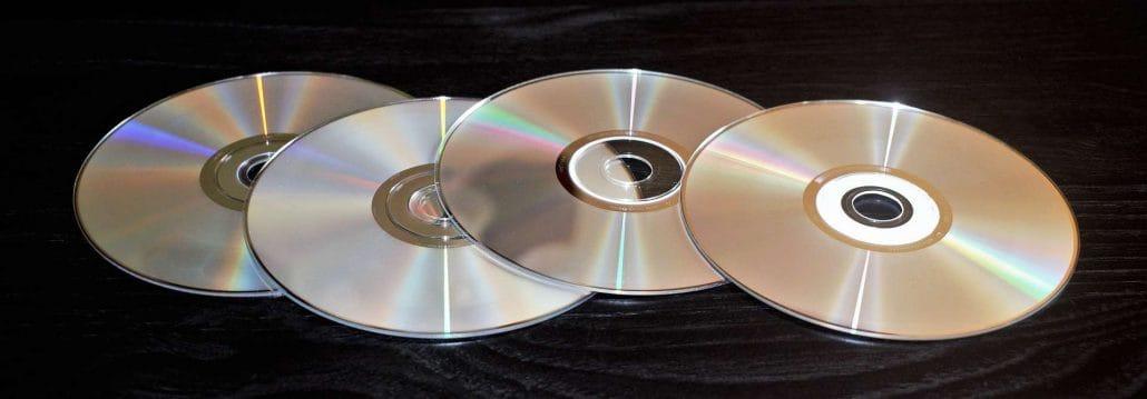 Verschiedene CD und DVDs